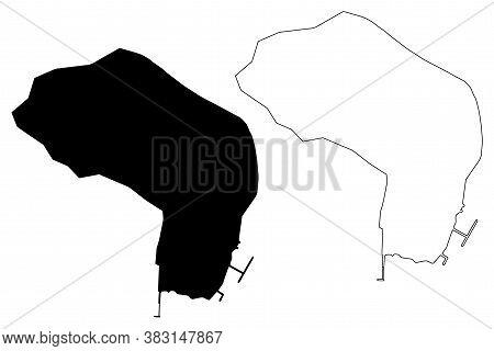 Banjul City (republic Of The Gambia, Banjul Division) Map Vector Illustration, Scribble Sketch City