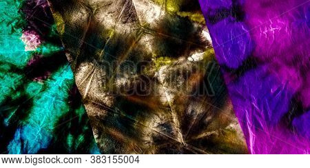Dirty Sky Background. Rainbow Graffiti Tag Painting. Cosmos Dirty Vintage Design. Dye Pattern. Neon