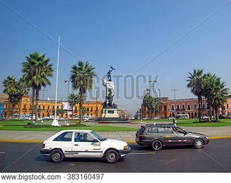 Lima / Peru - 30 Apr 2011: The Statue In Lima, Peru, South America