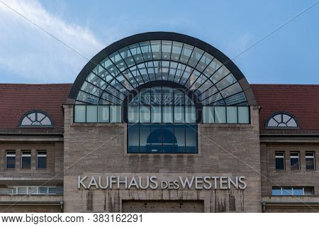 Berlin, Germany - 25 August 2020: Frontal View Of The Famous