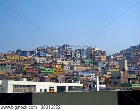 Lima / Peru - 30 Apr 2011: The Slum In Lima City, Peru, South America