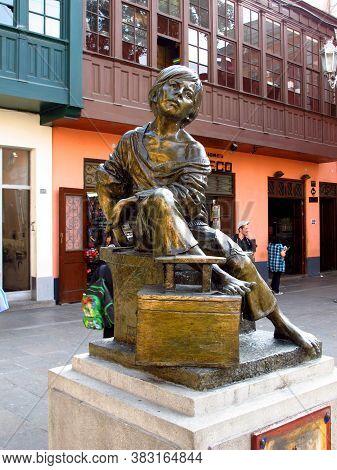 Lima / Peru - 01 May 2011: The Statue In Lima City, Peru, South America