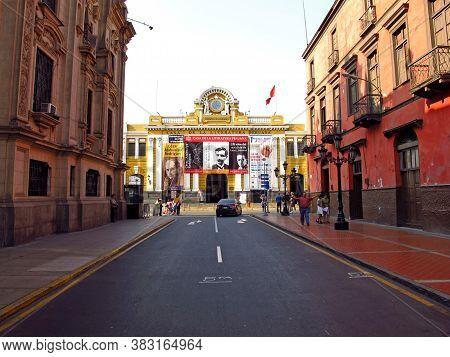 Lima / Peru - 01 May 2011: Presidencia De La Republica, The Vintage Palace, Lima City, Peru, South A