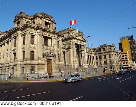 Lima / Peru - 01 May 2011: Palace Of Justice, Lima, Peru, South America