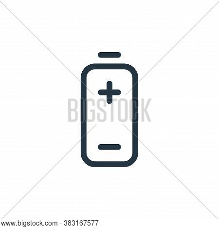 battery icon isolated on white background from media collection. battery icon trendy and modern batt