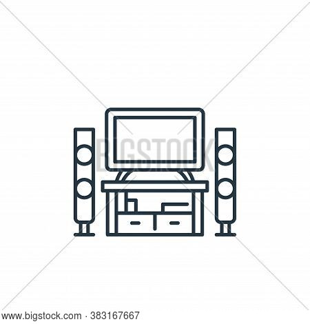 home cinema icon isolated on white background from interior design collection. home cinema icon tren