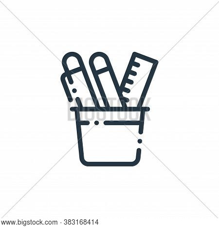 pencil holder icon isolated on white background from education collection. pencil holder icon trendy