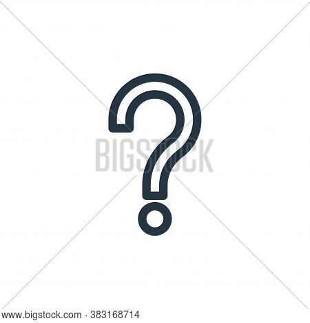 question mark icon isolated on white background from finance collection. question mark icon trendy a