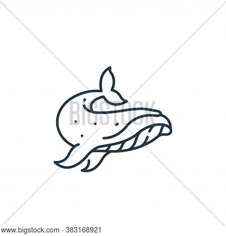 whale icon isolated on white background from pirate collection. whale icon trendy and modern whale s