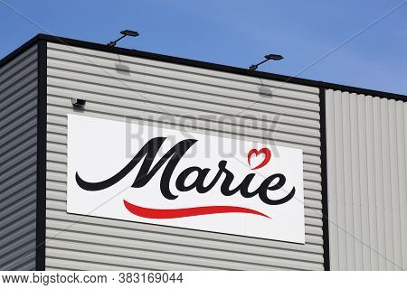 Macon, France - March 15, 2020: Marie Logo On A Building. Marie Is A French Food Company Specializin