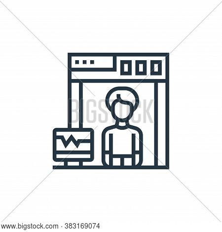 x ray icon isolated on white background from airport collection. x ray icon trendy and modern x ray