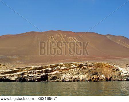 Geoglyphs In Pacific, Paracas, Peru