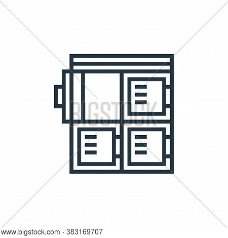 locker icon isolated on white background from airport collection. locker icon trendy and modern lock