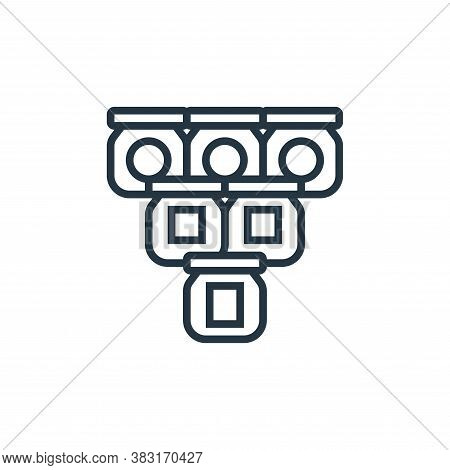 production icon isolated on white background from industrial process collection. production icon tre