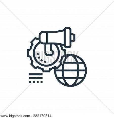 digital marketing icon isolated on white background from digital marketing collection. digital marke
