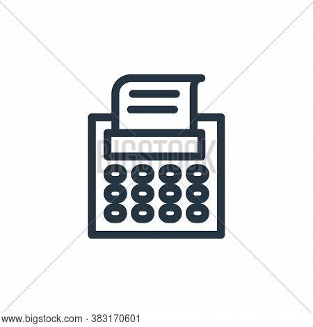 fax machine icon isolated on white background from finance collection. fax machine icon trendy and m