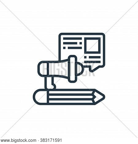 content icon isolated on white background from digital marketing collection. content icon trendy and