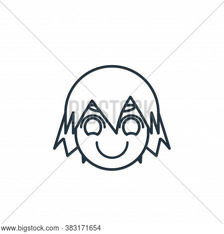avatar icon isolated on white background from avatar and emotion collection. avatar icon trendy and