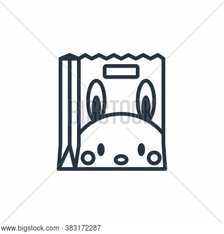 shopping bag icon isolated on white background from easter day collection. shopping bag icon trendy