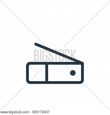 scanner icon isolated on white background from electronics collection. scanner icon trendy and moder