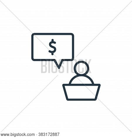 investor icon isolated on white background from business training collection. investor icon trendy a