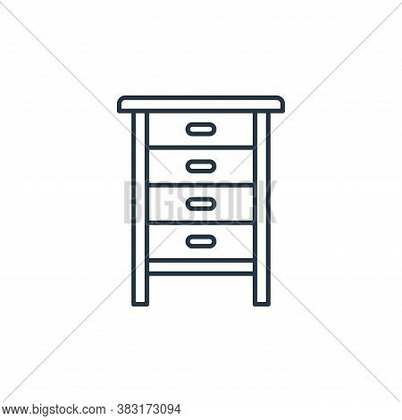 chest of drawers icon isolated on white background from interior design collection. chest of drawers