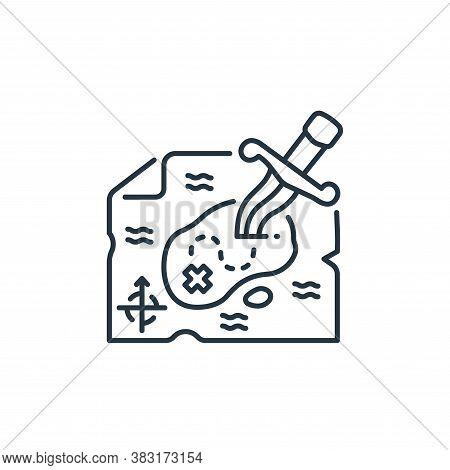 treasure map icon isolated on white background from pirate collection. treasure map icon trendy and