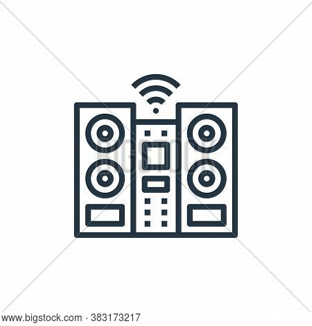 audio system icon isolated on white background from smarthome collection. audio system icon trendy a