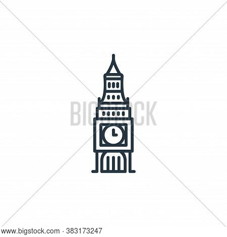 big ben icon isolated on white background from england collection. big ben icon trendy and modern bi