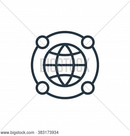 social network icon isolated on white background from startup and development collection. social net