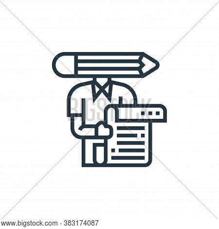 copywriter icon isolated on white background from digital marketing collection. copywriter icon tren