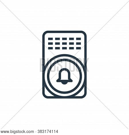 alarm bell icon isolated on white background from smarthome collection. alarm bell icon trendy and m