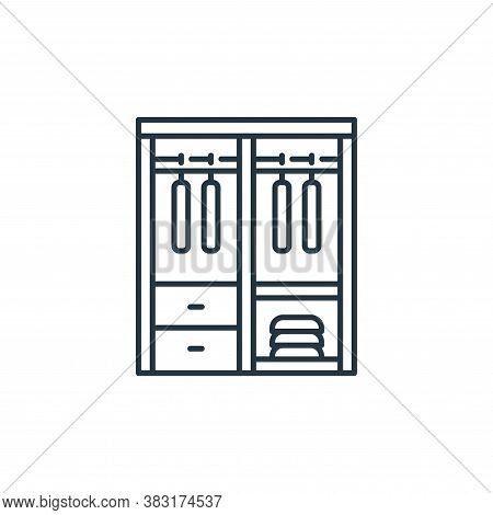 wardrobe icon isolated on white background from interior design collection. wardrobe icon trendy and