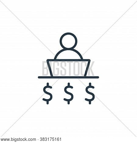 businessman icon isolated on white background from business training collection. businessman icon tr