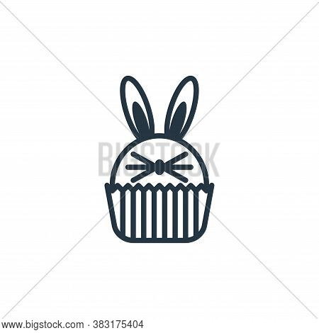 cup cake icon isolated on white background from easter day collection. cup cake icon trendy and mode