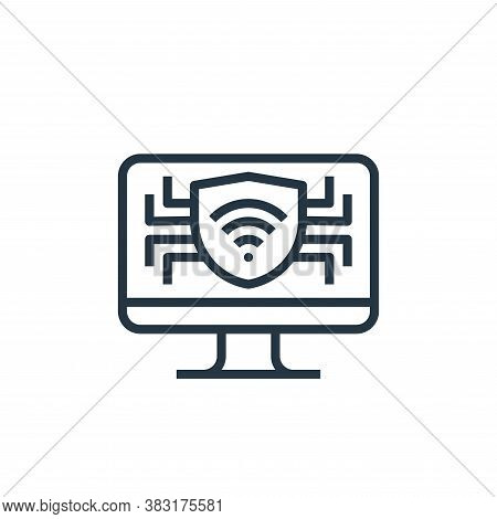 computer icon isolated on white background from smarthome collection. computer icon trendy and moder