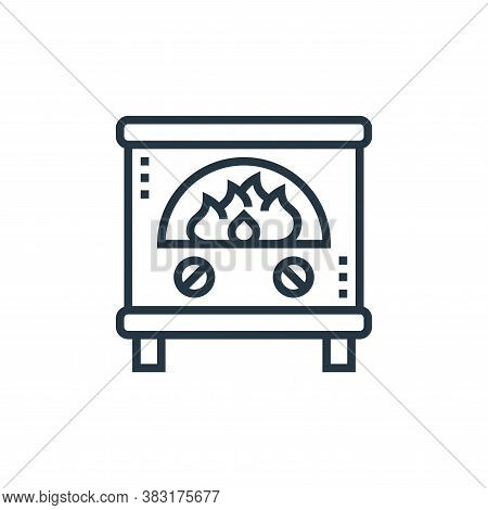 fireplace icon isolated on white background from home appliances collection. fireplace icon trendy a
