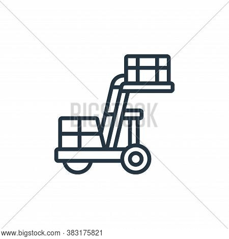 ladder icon isolated on white background from airport collection. ladder icon trendy and modern ladd