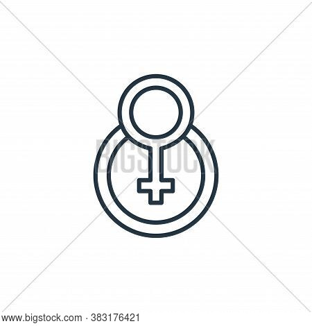 gender fluid icon isolated on white background from womens day collection. gender fluid icon trendy