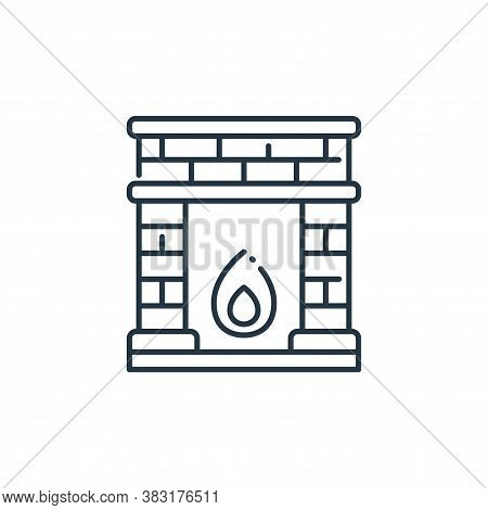 fireplace icon isolated on white background from interior design collection. fireplace icon trendy a