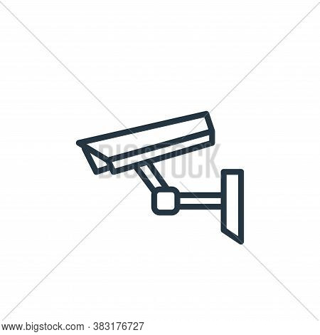 cctv camera icon isolated on white background from smarthome collection. cctv camera icon trendy and