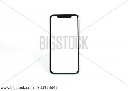 Mykolaiv, Ukraine - July 07, 2020: Iphone 11 On White Background. Mockup For Design