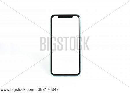 Mykolaiv, Ukraine - July 07, 2020: Iphone 11 On White Background. Mockup For Design