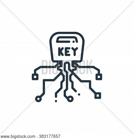 smart key icon isolated on white background from smart home collection. smart key icon trendy and mo