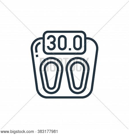 scale icon isolated on white background from home appliances collection. scale icon trendy and moder