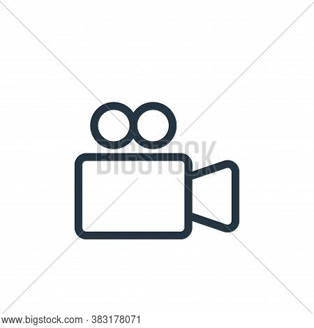 video camera icon isolated on white background from electronics collection. video camera icon trendy