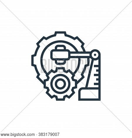 industrial robot icon isolated on white background from industry collection. industrial robot icon t