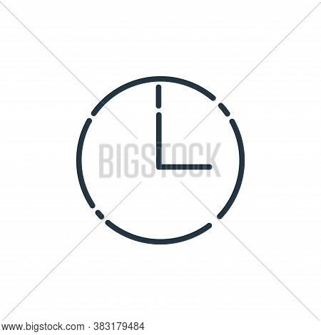time icon isolated on white background from user interface collection. time icon trendy and modern t