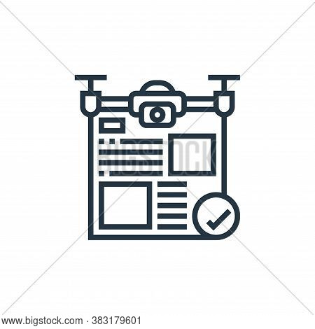 authorization icon isolated on white background from drone elements collection. authorization icon t
