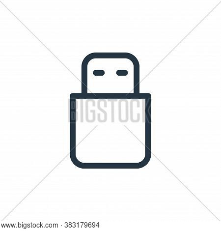 usb stick icon isolated on white background from media collection. usb stick icon trendy and modern